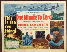 One Minute to Zero (1952) Film Poster Robert Mitchum Ann Blyth -  Style A